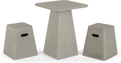 An Image of Kalaw Garden Bistro Table and Set of 2 Stools, Concrete