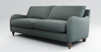 An Image of Custom MADE Sofia 3 Seater Sofa, Athena Dark Grey with Light Wood Leg