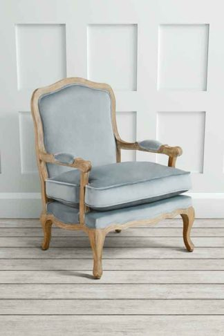An Image of Le Brun - French Oak Silver Occasional Armchair