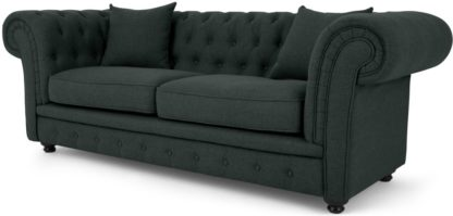 An Image of Branagh 2 Seater Chesterfield Sofa, Anthracite Grey