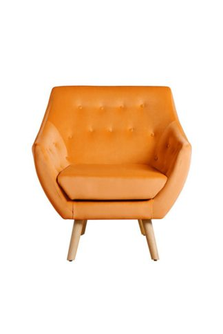 An Image of Poet Armchair, Luxor Orange Single Tone