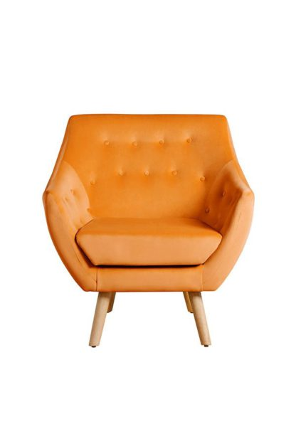 An Image of Poet Armchair, Luxor Orange Single Tone