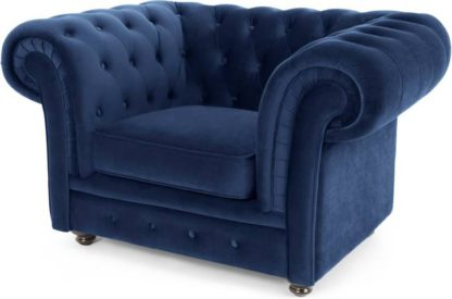 An Image of Branagh Armchair, Electric Blue Velvet