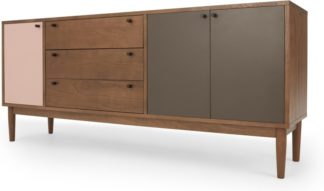 An Image of Campton Sideboard, Dark Stain Oak and Pink