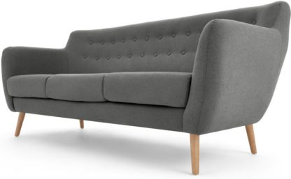 An Image of Rana 3 Seater Sofa, Marl Grey