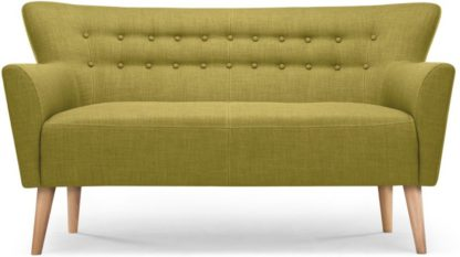 An Image of Quentin 2 Seater Sofa, Lemongrass Green