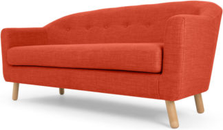 An Image of Lottie 3 Seater Sofa, Tuscan Orange