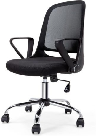 An Image of Rizzo Swivel Office Chair, Black