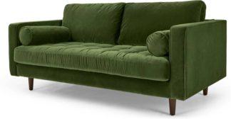 An Image of Scott Large 2 Seater Sofa, Grass Cotton Velvet