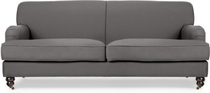 An Image of Orson 3 Seater Sofa, Graphite Grey