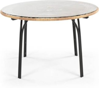An Image of Lyra Garden 6 Seater Dining Table, Charcoal Grey