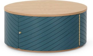 An Image of Novak Coffee Table, Ash and Teal