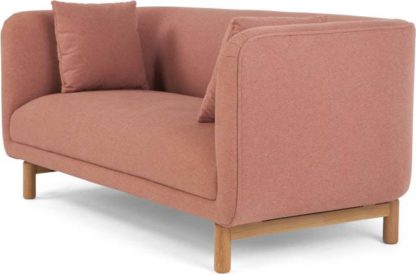 An Image of Becca 2 Seater Sofa, Dusk Pink
