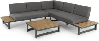 An Image of Topa Garden Corner Lounge Unit, Acacia and metal
