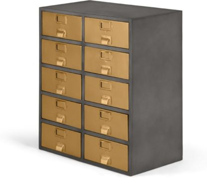 An Image of Stow Large Storage Unit, Vintage Brass