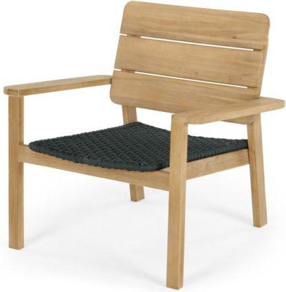 An Image of Jala Garden Lounge Chair, Acacia wood and Spun Polyester