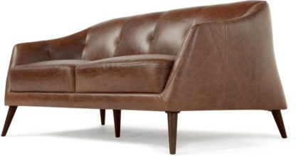 An Image of Nevada 2 Seater Sofa, Antique Cognac Leather