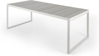 An Image of Catania Garden 8 Seater Dining Table, White and Polywood
