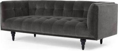 An Image of Connor 3 Seater Sofa, Concrete Cotton Velvet