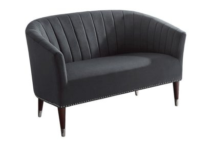 An Image of Bellini 2 Seater Sofa Storm Grey Velvet