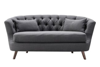 An Image of Borgen Two Seat Sofa - Slate