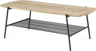 An Image of Bortolin Coffee Table, Light Mango Wood and Black