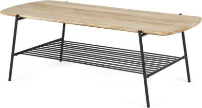 An Image of Bortolin Coffee Table, Light Mango Wood and Black