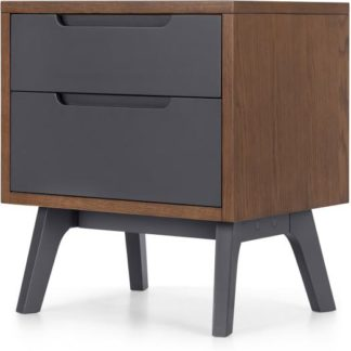 An Image of Jenson Bedside Table Dark stain and Grey