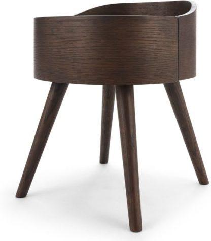 An Image of Ada Bedside Table, Dark Stain Oak
