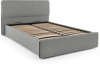 An Image of Cayden King Size Bed with Storage, Rock Grey