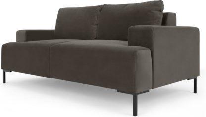 An Image of Frederik 2 Seater Sofa, Otter Velvet