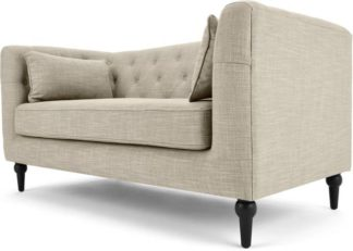 An Image of Flynn 2 Seater Sofa, Taupe Linen Mix