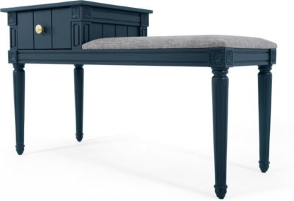 An Image of Bourbon Vintage Storage Bench, Dark Blue