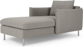 An Image of Vento Chaise Longue, Manhattan Grey