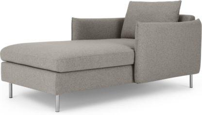 An Image of Vento Chaise Longue, Manhattan Grey