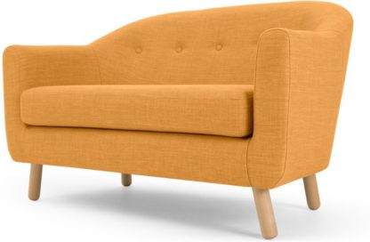 An Image of Lottie 2 Seater Sofa, Honey Yellow