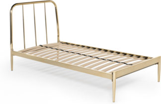 An Image of Alana Single Bed, Brushed Brass