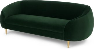 An Image of Trudy 3 Seater Sofa, Pine Green Velvet