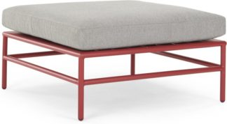 An Image of Kian Modular Ottoman, Rust Red and Grey