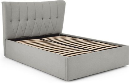 An Image of Charley King Size Bed With Storage, Hail Grey
