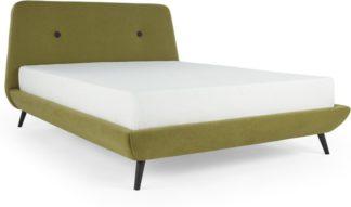 An Image of Edwin Super King Size Bed, Juniper green