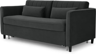 An Image of Barrow Sofa Bed, Midnight Velvet Grey