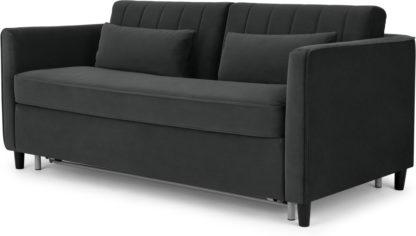 An Image of Barrow Sofa Bed, Midnight Velvet Grey