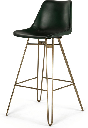 An Image of Kendal Barstool, Green and Brass