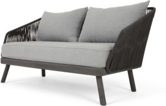 An Image of Alif Garden 2 Seater Sofa, Grey Eucalyptus