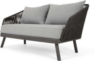 An Image of Alif Garden 2 Seater Sofa, Grey Eucalyptus