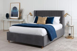 An Image of Baxter Storage Bed Grey
