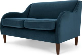 An Image of Helena 2 Seater Sofa, Plush Teal Velvet