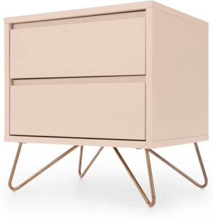 An Image of Elona Bedside Table, Dusk Pink