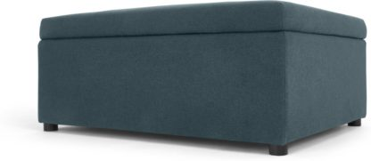 An Image of MADE Essentials Fip Ottoman Single Sofa Bed, Aegean Blue